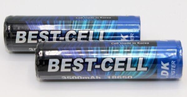 2 STK. RAVLYGTEN BEST CELL GENOPLADELIGT BATTERI 3500 MAH 18650