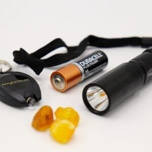 RUFUS AMBER TORCH 5 W. INCL. BATTERI