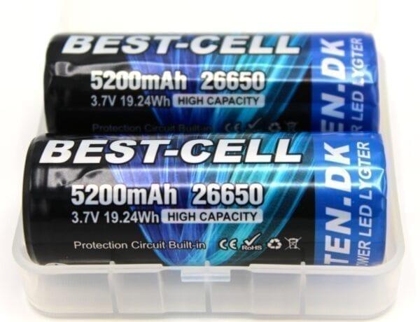 RAVLYGTEN BEST CELL GENOPLADELIGT BATTERI 26650 5200 mAh.