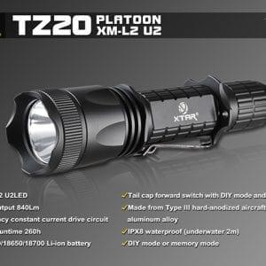 XTAR TZ 20 TAKTISK LED LOMMELYGTE 840 LUMEN