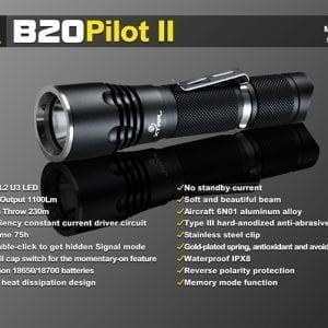 XTAR B20 LED LOMMELYGTE 1100 LUMEN