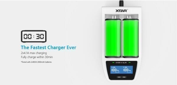 XTAR OVER 4 SLIM BATTERIOPLADER